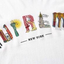 19ss S/Sw City Arc Tee Embroidery Tee 1:1 Tshirts Men Women Streetwear Harajuku