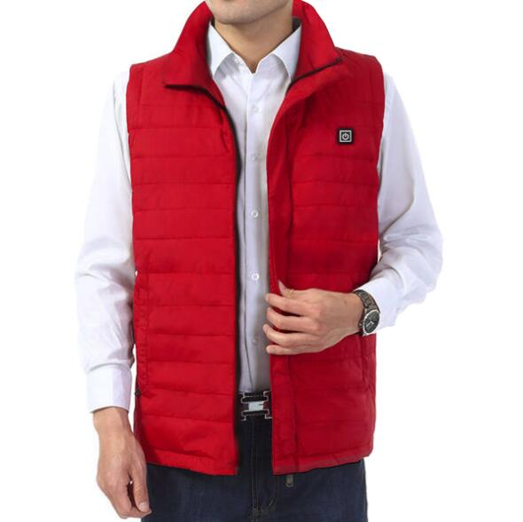 3 Levels Adjustable Temp. Thermal Vests Electric Heating Vest Heated Vest With 6800mAh Li-po Battery