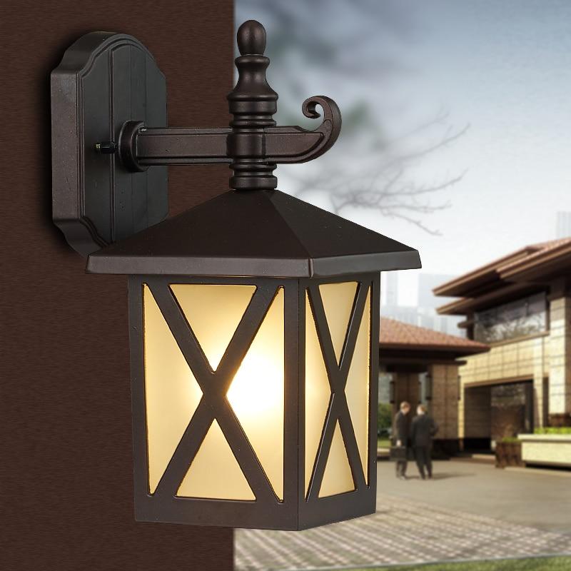 ФОТО Fashion garden balcony wall lamp outdoor waterproof lamp