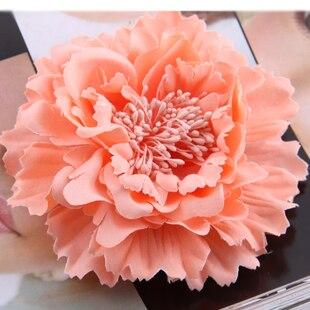 Принадлежности для волос Ткань Пион большой цветок корсаж брошь ребенок парадный вечерний наряд рабочая одежда шляпа цветок