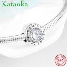 77ef26fa719246 Di alta Qualità di Famiglia Per Sempre Pendenti e Ciondoli 925 Sterling  Silver Beads Sereno CZ Fit Originale Pandora Braccialett.