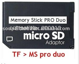 L Memory Card Adapter Micro SD To Memory Stick Pro Duo Adapter For PSP Sopport Class10 Micro SD 2GB 4GB 8GB 16GB 32GB