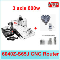 EU no Tax! 6040Z S65J 3 axis 800W water cooled spindle turning lathe cnc machining 6040 cnc router