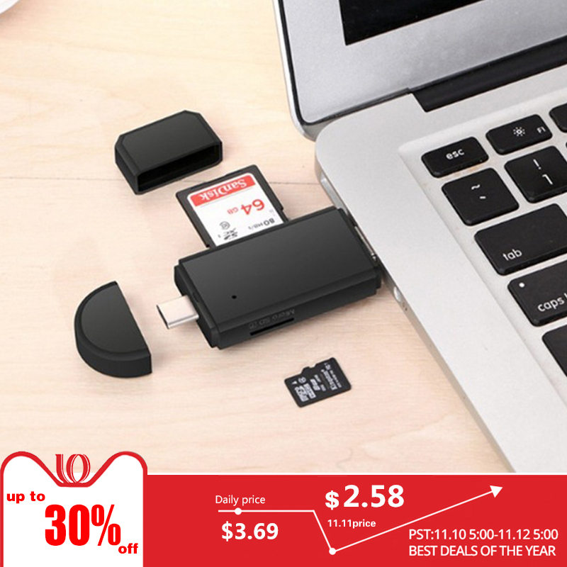 All In 1 Usb 3.0 2.0 Card Reader High Speed SD TF Micro SD Card Reader Type C USB C Micro USB Memory Otg Card Reader hot sale new red card reader high speed data transmission mini usb 2 0 micro sd tf t flash memory card reader adapter
