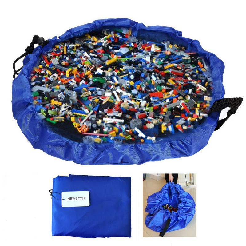 45cm Portable Kids Play Mat And Toy Storage Bag Lego Toys