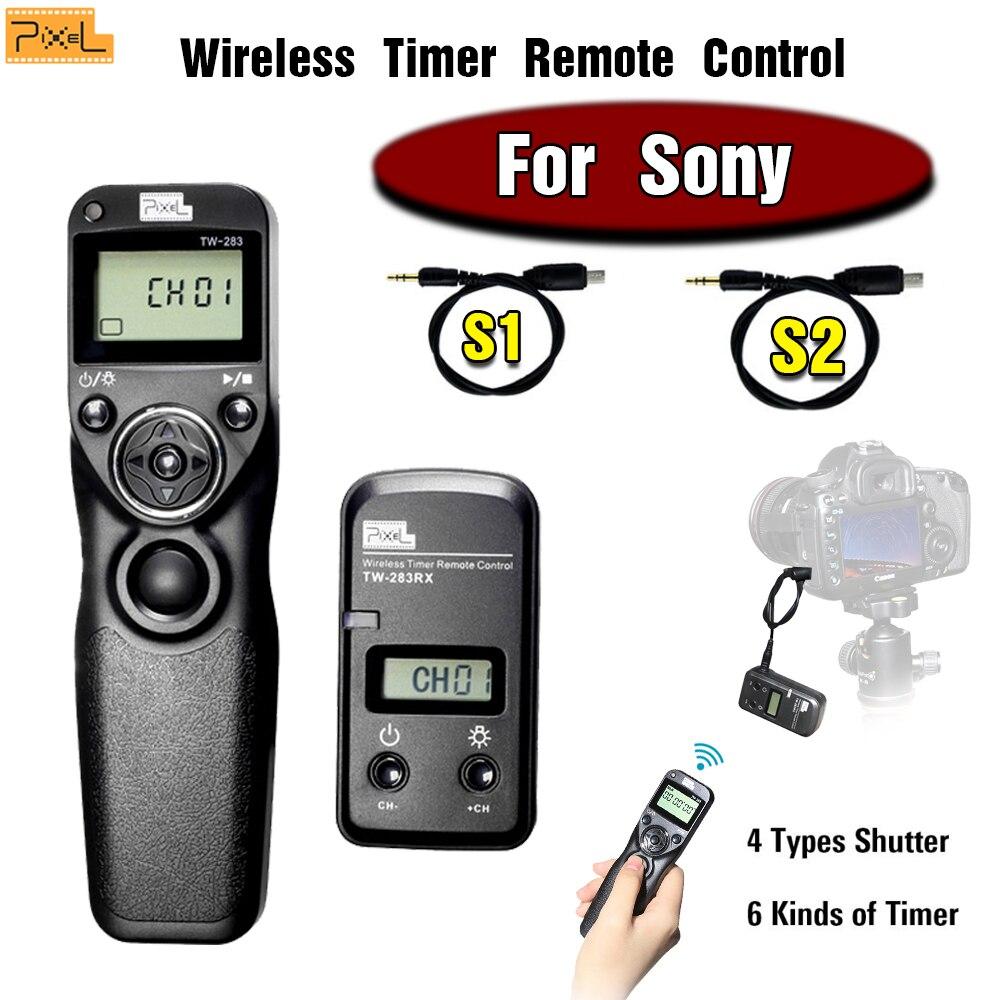 цена на Pixel TW-283 Wireless Timer Remote Contro shutter remote control For Sony A900 A850 A700 A580 A77 A65 A57 A55 A37 A35 A33 A58