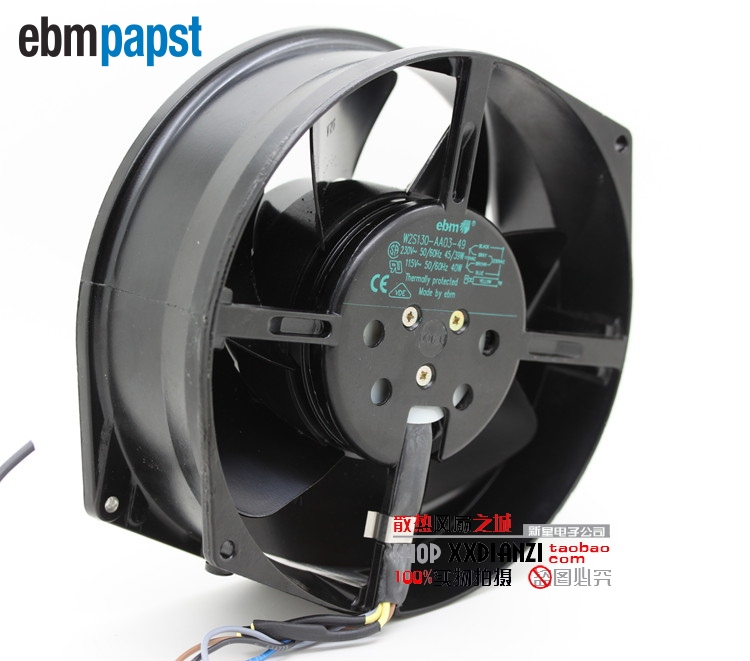 ebm papst  Original W2S130-AA03-49 230V / 39W 115V / 40W all-metal cooling fan for ebmpapst 72*150*55MM