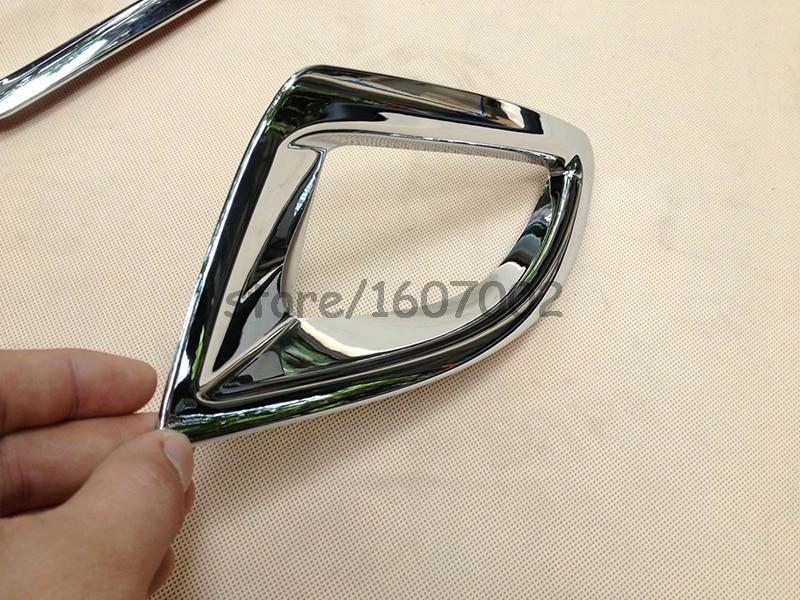 FOR 2014 2015 MAZDA 3 M3 AXELA HATCH HATCHBACK ABS Chrome Rear Fog Light Lamp Cover Trim Bezel Molding GARNISH