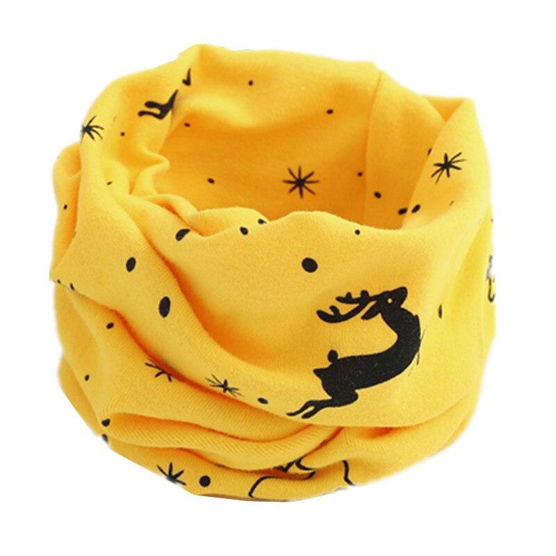 Осенне-зимний детский хлопковый шарф для девочек и мальчиков теплые шарфы Детский круглый кольцевой ошейник Детский шарф детский волшебный шейный платок - Цвет: yellow dear