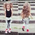 Fashion Toddler Kids Children Girls Vest Tops Denim Pants Jeans Clothes Outfit Set for Kids Girls Hip Hop Costume