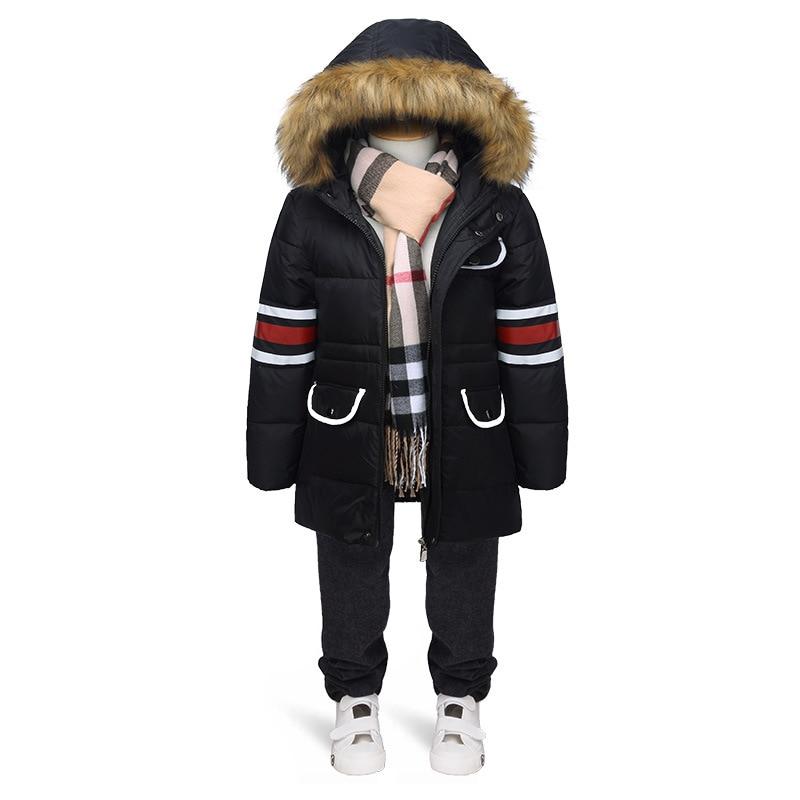 Height 105 140cm Chidlren winter jacket boys children s winter jackets Boy down jacket outwear coat
