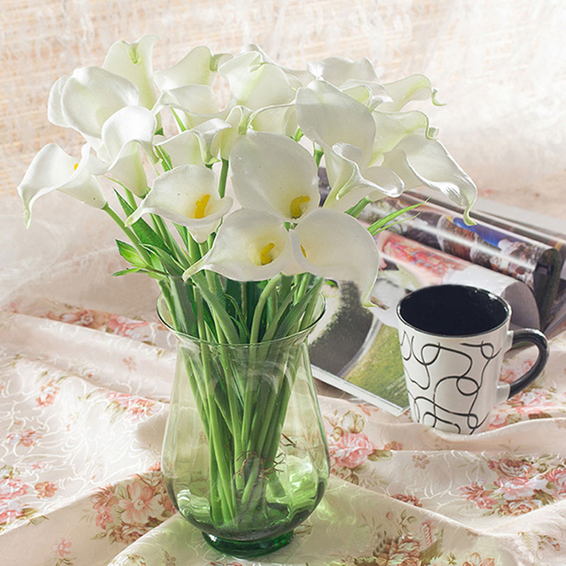 20 Stuck Menge Kunstblumen 5 Farben Calla Braut Hochzeit Deko