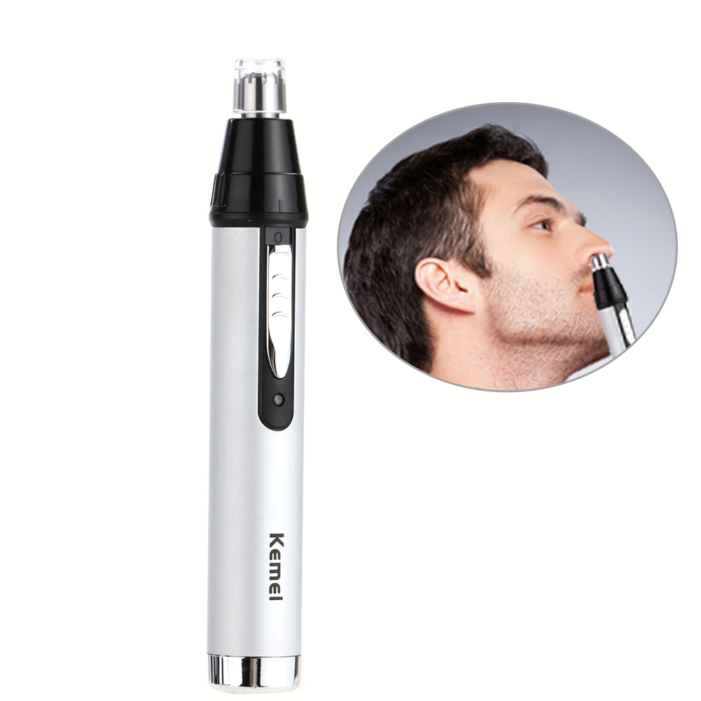 New Kemei Trimmer Cleaner Face Care Shaving For Nose Trimer Removal Washable Rechargeable Nose Electric Safe Face Care Device new kemei nose trimmer 3 in 1 rechargeable electric shaver face care shaving trimmer for nose