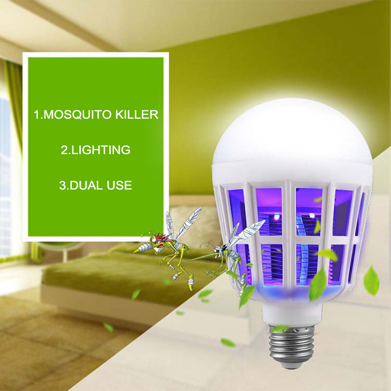 KINLAMS 2Modes E27 220V 15W LED Bulb LED Mosquito Killer Lamp Bulb UV  Electric Trap Light. Compare Prices on Insect Killer Light  Online Shopping Buy Low