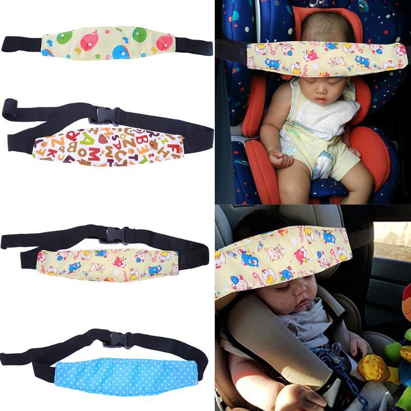 Baby Safety Stroller Car Seat Sleep Nap Stroller Sleeping Aid Head Band Head Support Holder Belt Baby Stroller Car Accessories
