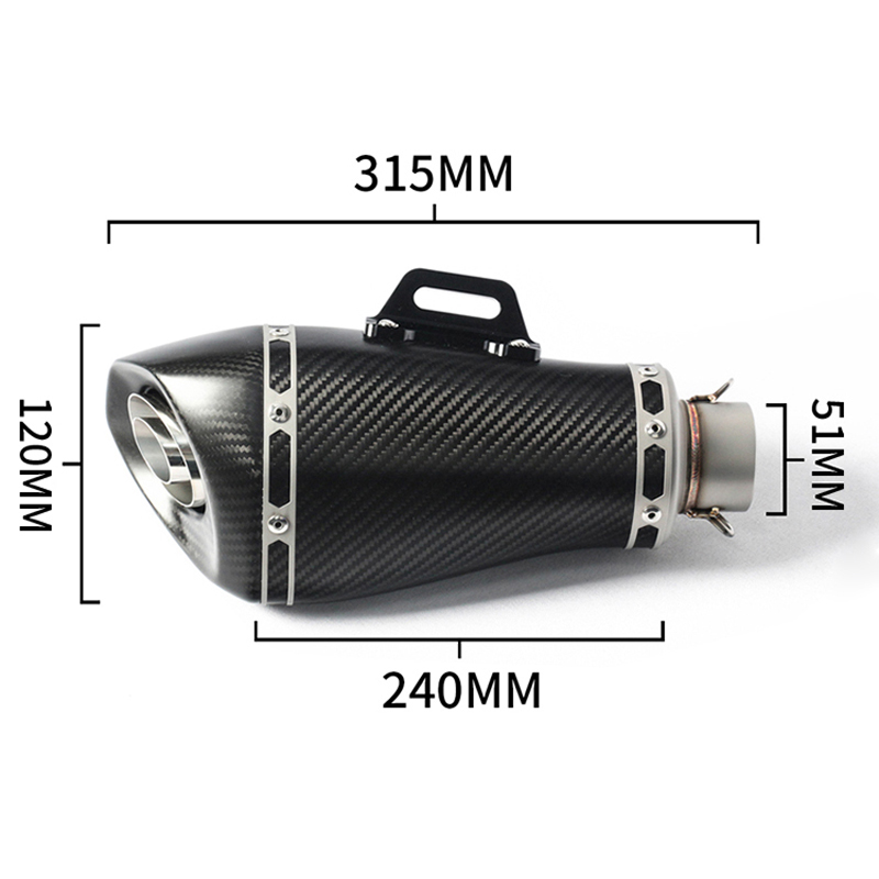 motorcycle streamline yoshimura akrapovic exhaust motorcycle muffler for Z900 R25 GSXR600 S1000RR ZX6R Z650 ER6N MT09