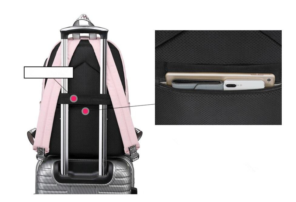 HTB1XBIKaULrK1Rjy1zbq6AenFXaV Tourya Fashion Anti Theft Reflective Waterproof Women Backpack USB Charge School Bags For Girls Travel Laptop Rucksack Bookbags