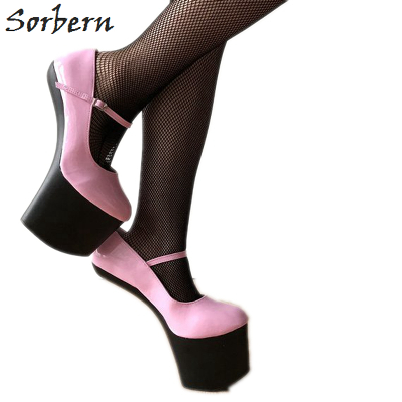 Sorbern Custom Wide Calf Boots Women Hard Shaft Customized Crotch Thigh High Boots For Women Point 18Cm Stiletto Boot Red Patent