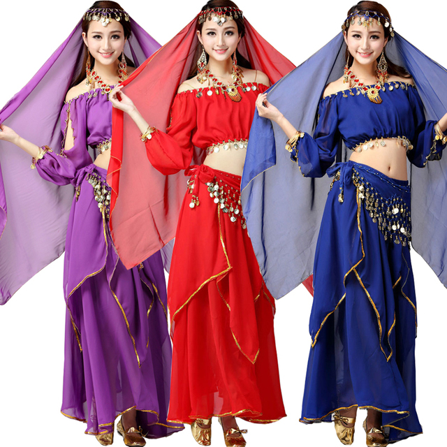 Girls Adult Belly Ballroom Dance Costume Bollywood Gypsy Costumes Women Belly Dance Dress India Egypt Dancewear  sc 1 st  AliExpress.com & Girls Adult Belly Ballroom Dance Costume Bollywood Gypsy Costumes ...