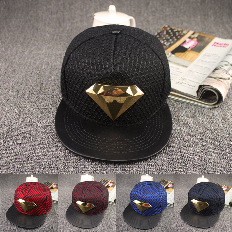 2016 Europe diamond style Summer Mesh Baseball Cap Hat For Men Women Teens Casual Bone Hip Hop Snapback Caps Sun Hats 2018 cc denim ponytail baseball cap snapback dad hat women summer mesh trucker hats messy bun sequin shine hip hop caps casual