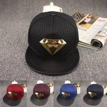 2016 Europe diamond style Summer Mesh Baseball Cap Hat For Men Women Teens  Casual Bone Hip 32a21b4613