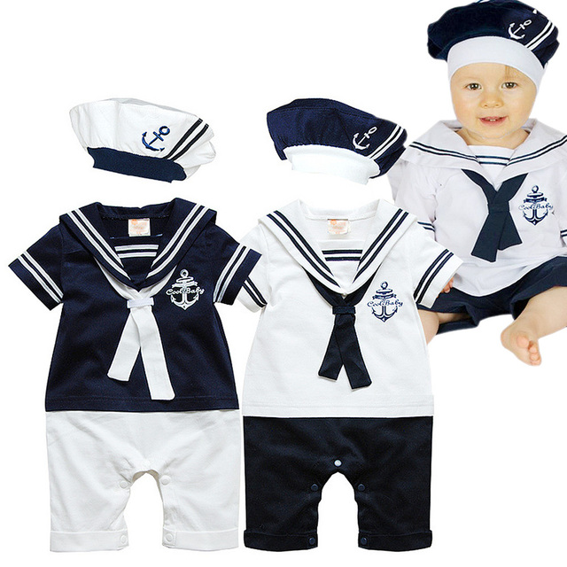 Baby Boy Clothes 6 12 12 18 18 24 Months Navy Hats Rompers Infant