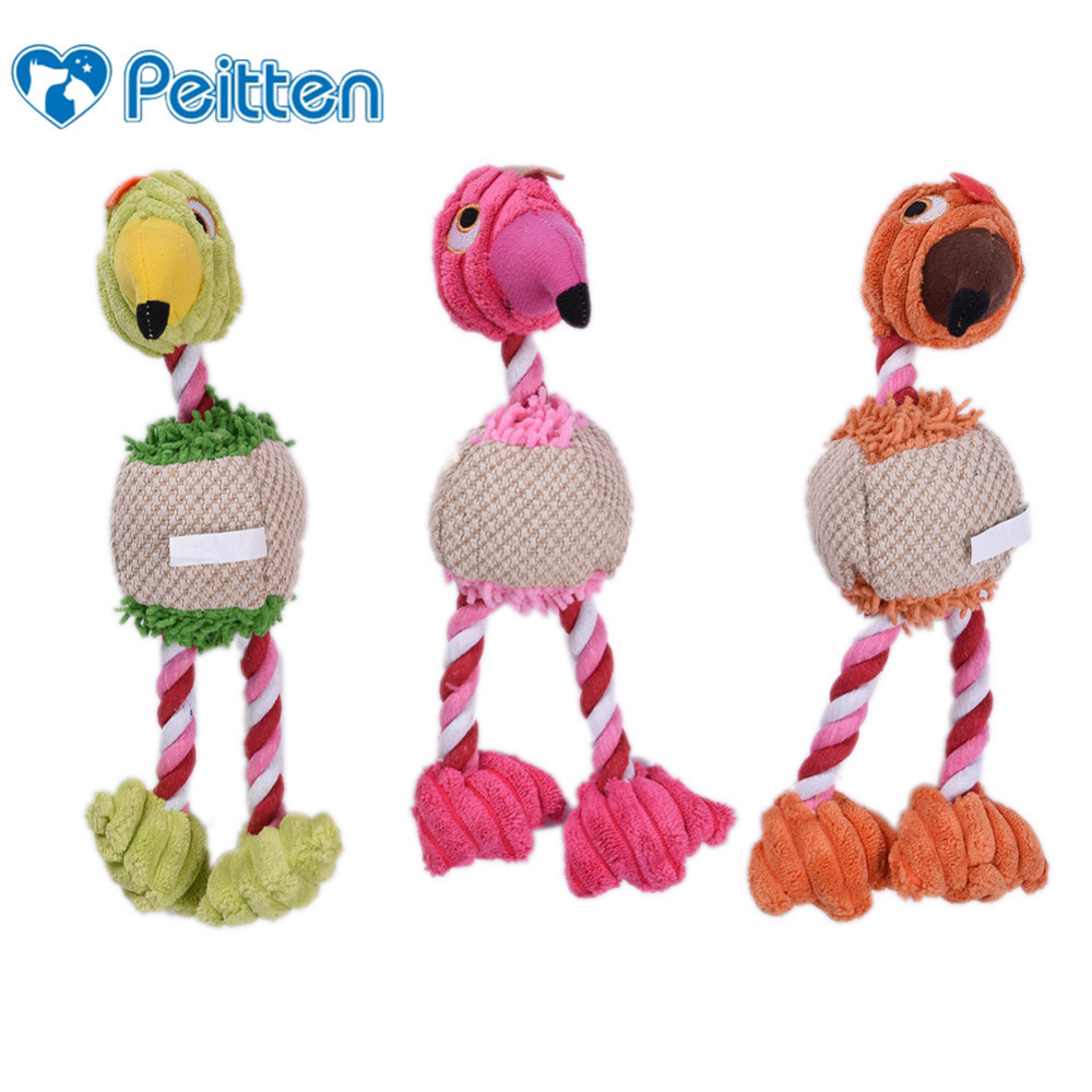 1 PC Three Colors Pet Dog Interactive Plush Squake Toy ...