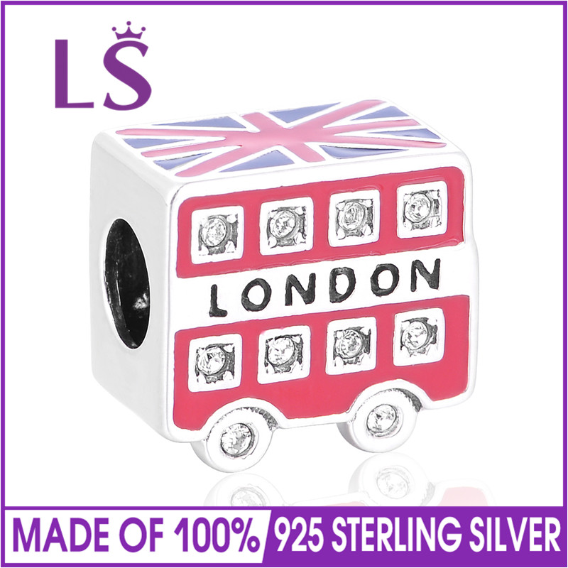 LS Summer Collection 2017 Authentic 925 Sterling Silver Enamel London Carriage Beads Fit Original Bead Charm Bracelet Jewelry