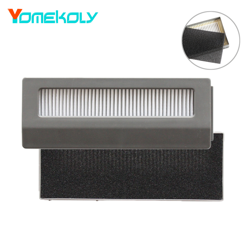 Replacement Hepa Filters & Sponge Kits for Ecovacs DW700 Robot Vacuum Cleaner Filter Robotic Sweeper Spare Parts 2pcs robotic vacuum cleaner robotic parts pack hepa filter for xiaomi mi robot filters cleaner accessories