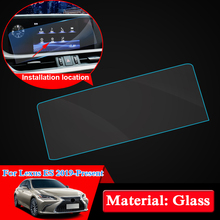 QCBXYYXH For Lexus ES 2019 Car Styling GPS Navigation Screen Glass Protective Film Dashboard Display Protective Film
