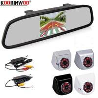 Koorinwoo 720P 4.3 Monitor TFT Mirror Wireless Car Parking Camera IR Night Vision Truck Car Rear View Camera Tailer Auto Metal