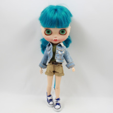 Neo Blythe Doll Denim Coat With Shirt & Pants
