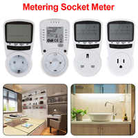 Metering socket ammeter Digital Power Meter Socket Energy Meter Electricity Cost Measuring Power Analyzer LCD Energy Monitor