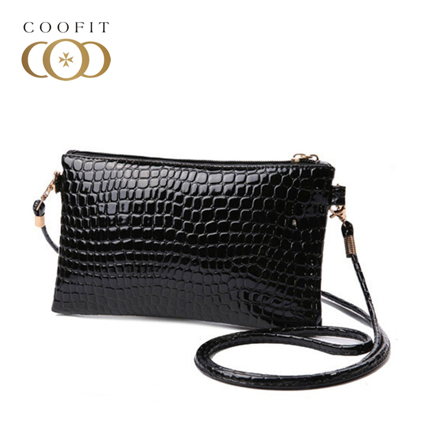 Coofit Fashion Women s Crossbody Bags Girls Crocodile Pattern Clutchs Mini  PU Leather Messenger Bag and Purses c739aa7c3aa3