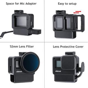 Image 2 - ULANZI V2 Pro GoPro vlog boîtier boîtier Cage cadre w Microphone froid chaussure support + 52mm ND filtre anneau adaptateur pour GoPro 7/6/5