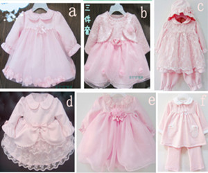 girls dresses Quality baby formal newborn puff female child baby ...