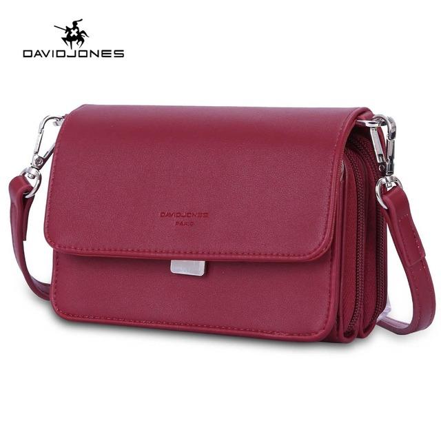 DAVIDJONES women handbag faux leather female shoulder bags mini lady casual messenger bag girl brand crossbody bag drop shipping