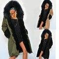 2016 Nuevo Invierno ropa de Abrigo Cálido Y Comercio Del Algodón Abrigo de Invierno Parka Larga Delgada Mujeres Abajo Mujeres de la Capa de Abrigo de Pieles