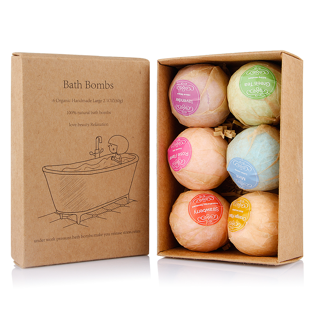 6pcs/set Deep Sea Salt Bath Bombs Bath Balls Rich Foam Fragrance Moisturizing Bubble Tub Bath Spa Salt For Body Relaxation