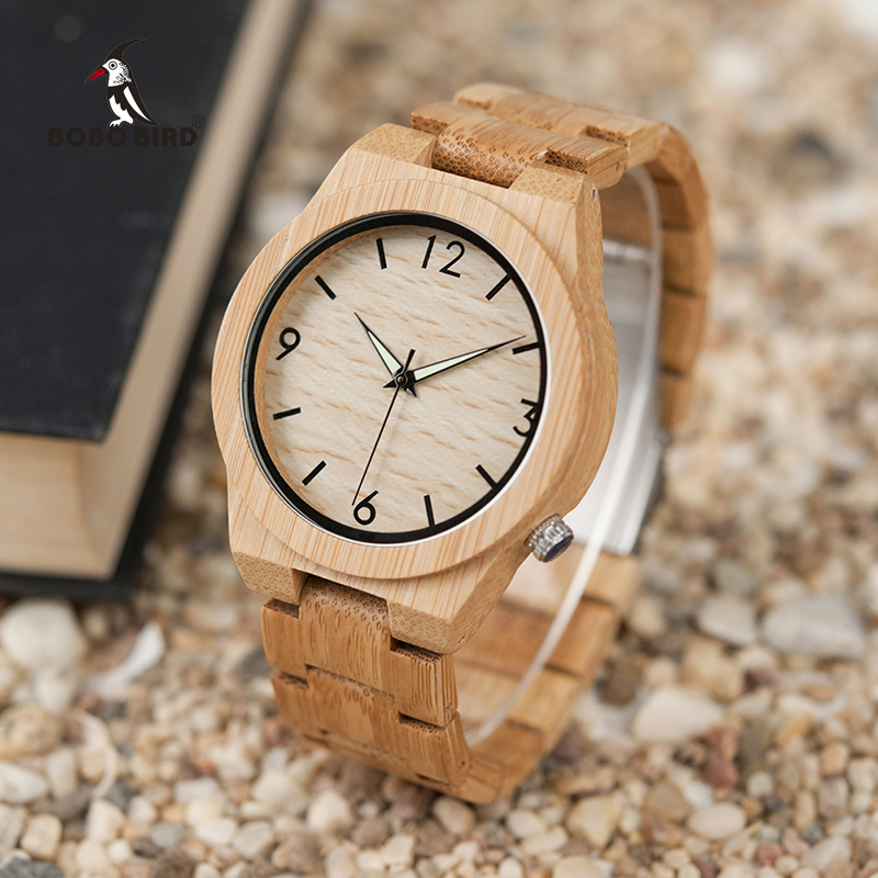 relogio masculino BOBO BIRD Wood Watch Menn Topp Merker Luksus Wooden Timepieces Great Menns Gave Drop Shipping W-D27