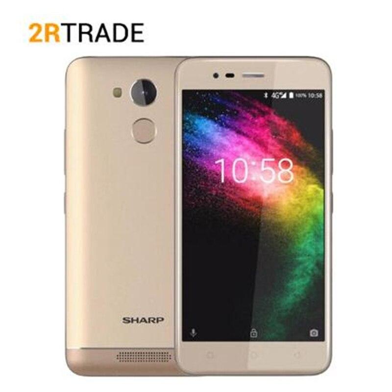 Sharp R1 FS8014 MT6737 Quad Core Mobile Phone 5.2 Inch 16:9 Ratio Smartphone 4000mAh 3GB RAM 32GB ROM Android Cellphone