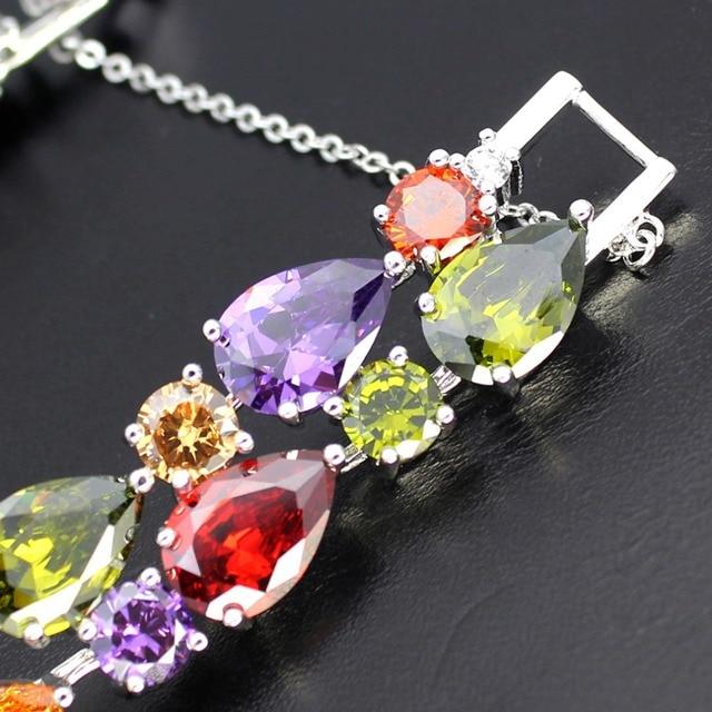 Купить hermosa ювелирные изделия многоперидный гранатовый браслет серебряного