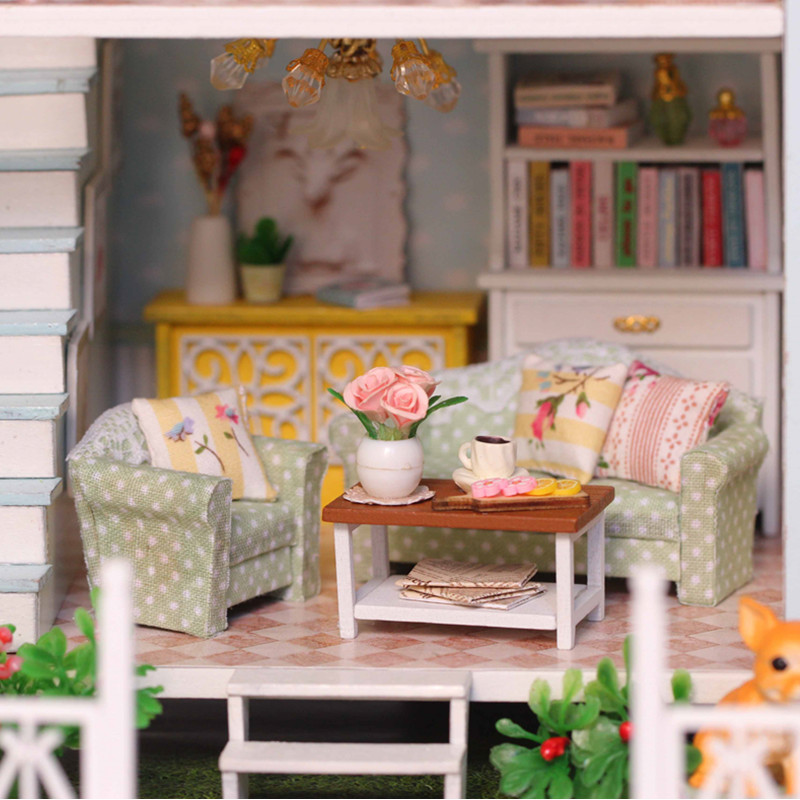 Home Decoration Crafts DIY Doll House Doll Doll Houses Miniature DIY - Anak patung dan aksesori - Foto 3