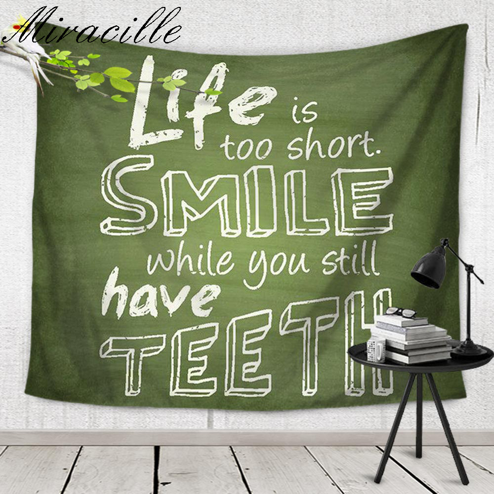 Miracille English Letter Inspirational Quotes Tapestry ...