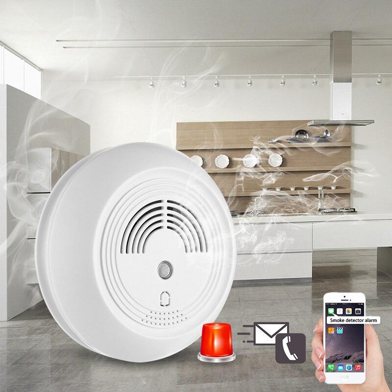 Nouveau produit système d'alarme de sécurité à domicile SMS GSM détecteur de fumée détecteur d'alarme incendie carte SIM envoyer un message centre d'appel
