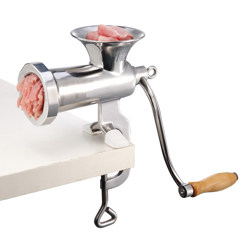 manual food grade stainless steel meat grinder small household No 12 hand meat enema 5 8mm