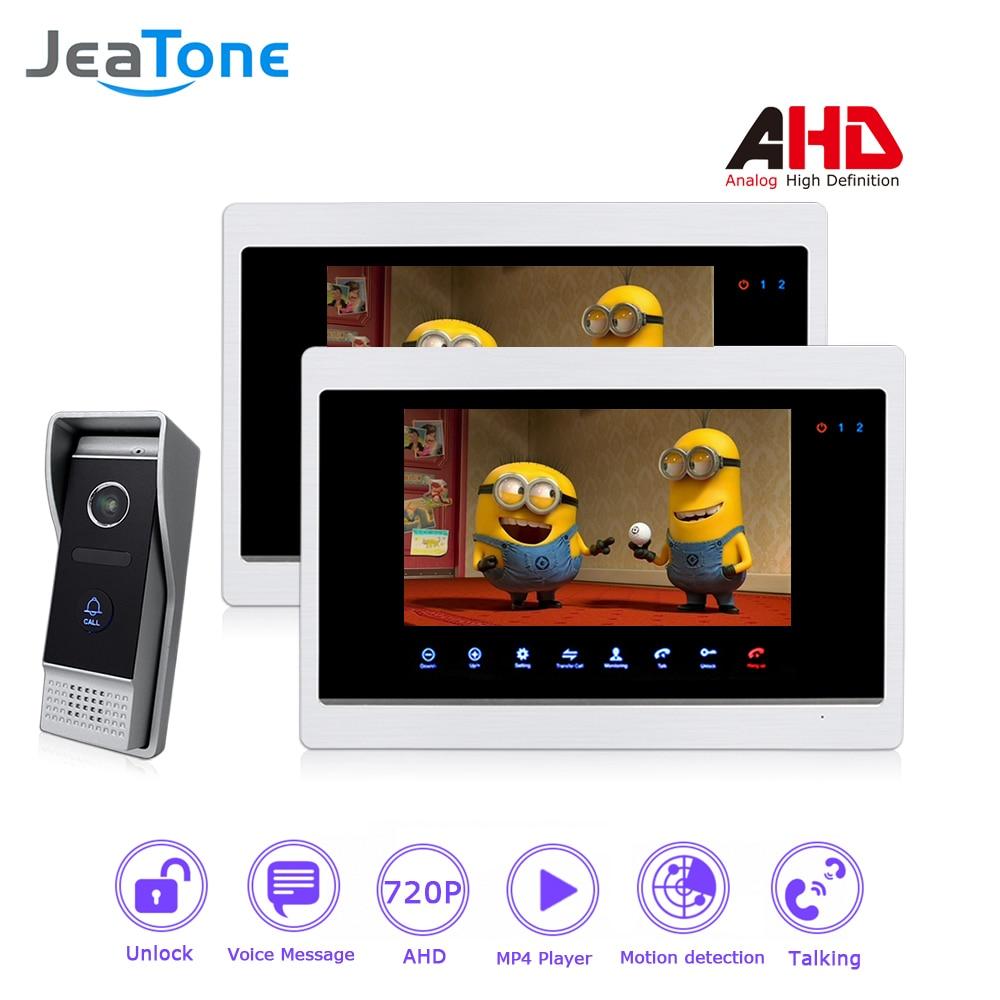 AHD 720P 4 Wired 7'' Video Door Phone Intercom Door Bell Door Speaker Security Motion Detection/Touch Button/MP4 Player/1 to 2 цена