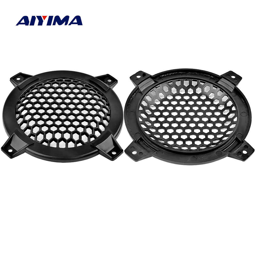 AIYIMA 2Pcs 4Inch Audio Speakers Protective Cover Case Tweeter Speaker Grill Mesh Parts Accessories DIY For Home Theater