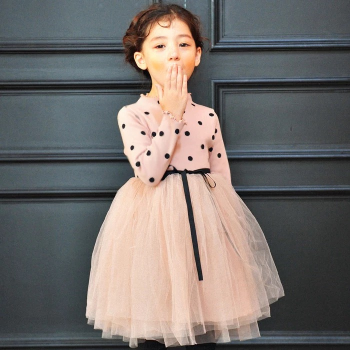 2018 New Europe Style Teenage Girls Dresses Princess Wedding Party Gown Kids Costume Wedding Birthday Dress Robe Fille 12 13 14