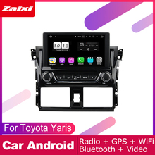 цена на ZaiXi android car dvd gps multimedia player For Toyota Yaris 2014~2016 car dvd navigation radio video audio player Navi Map